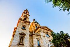 St Stephen ` s Basiliek, de grootste kerk in Boedapest Stock Foto