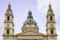 St Stephen ` s Basiliek of kerk in Boedapest, Hongarije stock afbeelding