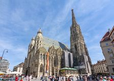 St. Stephen`s Cathedral in center of Vienna, Austria stock image