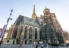 St. Stephen`s Cathedral in center of Vienna, Austria royalty free stock image