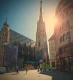 St. Stephen's Cathedral and the eponymous square, Vienna, Austri Royalty Free Stock Photography