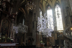 St. Stephen`s Cathedral from inside Royalty Free Stock Photo