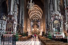 St. Stephen's Cathedral interior Royalty Free Stock Images