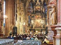 VIENNA, AUSTRIA - SEPTEMBER 8, 2017. St. Stephen`s Cathedral interior, Vienna. St. Stephen`s Cathedral interior, Vienna Royalty Free Stock Photos