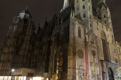 St. Stephen's Cathedral at night Stock Photography