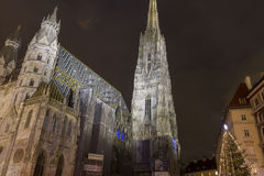 St. Stephen's Cathedral at night Stock Photo