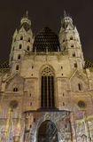 St. Stephen's Cathedral at night Stock Image