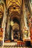 St. Stephen's Cathedral (Stephansdom) interior Stock Images