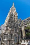 St. Stephen`s Cathedral in Vienna, Austria in a beautiful autumn day royalty free stock images