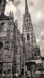 St. Stephen`s Cathedral in Vienna stock photos