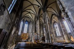 St. Stephen`s Cathedral in Vienna stock photo