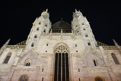St. Stephen's Cathedral in Vienna at night - Austria Royalty Free Stock Images