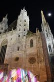 St. Stephen's Cathedral in Vienna at night - Austria Stock Photos