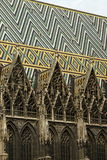St. Stephen's Cathedral, Vienna. Roof of St. Stephen's Cathedral, Vienna, showing the famous zig-zag pattern royalty free stock photography