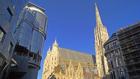 St. Stephen`s Cathedral in Vienna stock image