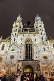 St. Stephen's Cathedralin Vienna in Christmas time. St. Stephen's Cathedral Stock Images