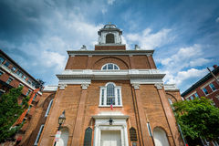 St. Stephen`s Catholic Church, in the North End of Boston, Massa Royalty Free Stock Photos