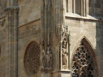 St Stephen ` s katedra w Wiedeń, Austria w pięknym jesień dniu zdjęcie stock
