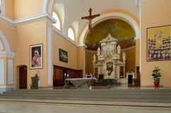 St- Stephen` s Kathedrale in Shkoder, Albanien lizenzfreie stockbilder