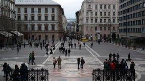 St Stephen`s Sqaure. Saint Stephen`s Square / Szent Istvan tér, view from St Stephen`s Basilica Stock Image