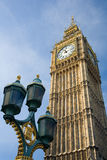 St Stephen's Tower (Big Ben). Of the British Houses of Parliament in London royalty free stock photo