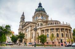 St Stephen (St Istvan) Basiliek in Boedapest, Hongarije Stock Foto's