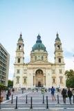 St Stephen (St Istvan) Basiliek in Boedapest, Hongarije Royalty-vrije Stock Afbeelding