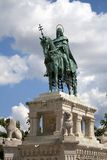 St. Stephen statue in Budapest Stock Photography