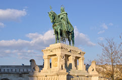 St Stephen Statue in Budapest, Hungary Stock Images