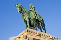 St Stephen Statue in Budapest, Hungary Royalty Free Stock Photography