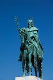 St Stephen staty i Budapest Arkivfoton