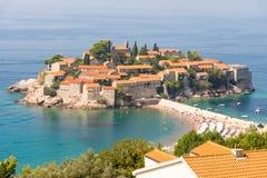 St Stephen u. x27; s-Insel in Montenegro Lizenzfreie Stockfotos