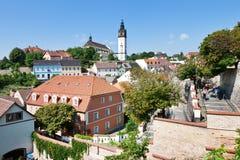 St- Stephenkathedrale, Litomerice, Böhmen, Tschechische Republik Lizenzfreies Stockbild