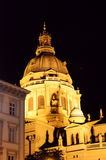 St. Stephen's Basilica at night Stock Image