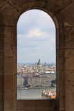 St. Stephens Basilica in window Royalty Free Stock Photo