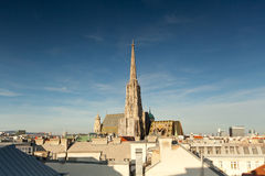 St Stephens Cathedral. Landmark and church in the centre of Vienna Stock Photos