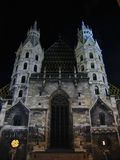 St. Stephens Cathedral At Night - Vienna, Austria Stock Photo
