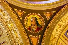 St Stephens Cathedral Budapest Hungary för helgonCunigundes mosaik Royaltyfria Bilder