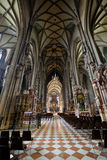 St Stephens Cathedral interior in Vienna Stock Photography