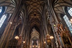 St Stephens Cathedral interior in Vienna Royalty Free Stock Photos