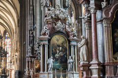 St Stephens Cathedral interior, Vienna Royalty Free Stock Image
