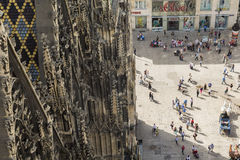 St Stephens Cathedral & main square stock photos