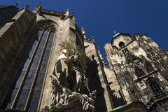 St. Stephens Cathedral (Stephansdom) in Vienna, Austria Stock Image
