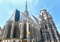 The St. Stephens Cathedral in Vienna, Austria. Royalty Free Stock Images