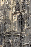 The St. Stephens Cathedral. VIENNA, AUSTRIA - JUNE 27, 2015: The St. Stephens Cathedral in Vienna, Austria. Build in 1359-1511 y Royalty Free Stock Photos