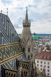 St. Stephens Cathedral Vienna With Cityscape Royalty Free Stock Photography