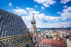 St. Stephens Cathedral Vienna With Cityscape Stock Image