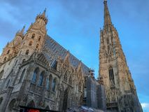 St. Stephen& x27;s Cathedral in vienna city stock photography