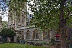 St. Stephens Church, Bristol. Garden of St. Stephens Church, Bristol City Centre Stock Images