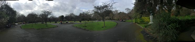 St. Stephens Green in Dublin Ireland, famous tourist spot royalty free stock images